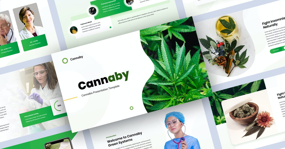 Download Cannaby - Cannabis Presentation Templates by Krafted