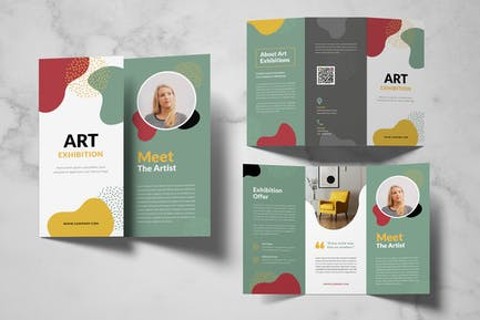 Art Exhibition Trifold Brochure