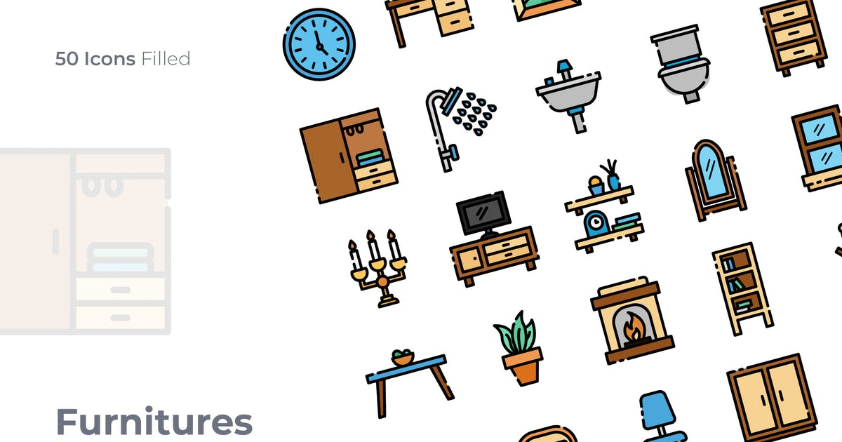 Download Furnitures Filled Icon by GoodWare_Std