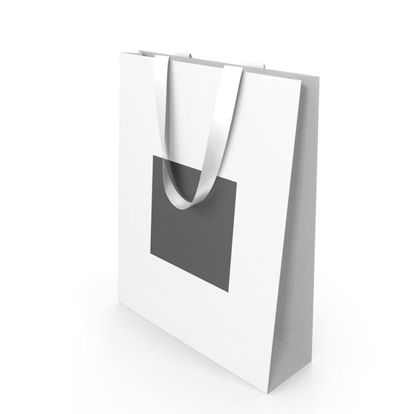 Белый и черный бумажный мешок с белыми ручками