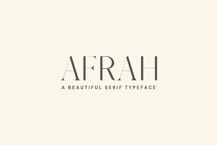Thumbnail for Afrah Serif Font Family Pack