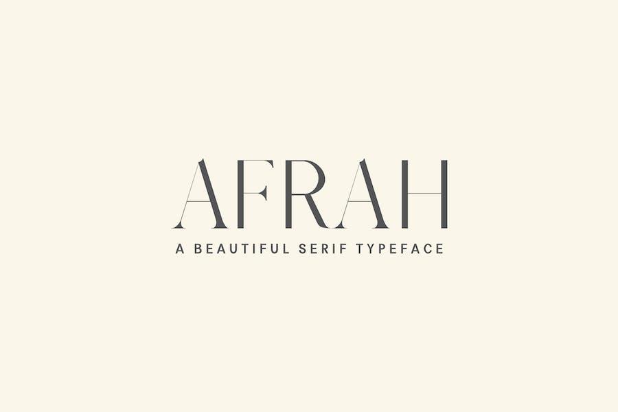 Afrah Serif Font Family Pack