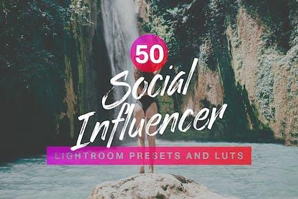 50 Social Influencer Lightroom Presets LUTs