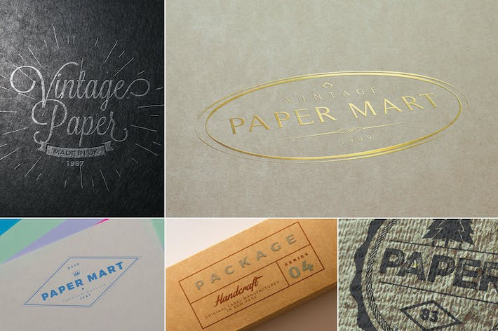 Thumbnail for Creative Paper Logo Mockups
