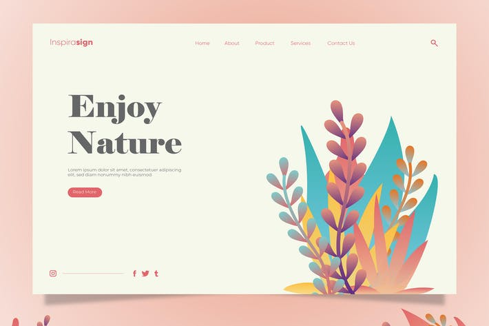Thumbnail for Nature - Banner & Landing Page