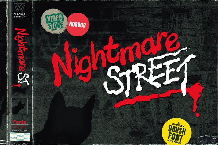 Thumbnail for Nightmare Street - The Retro Halloween Font