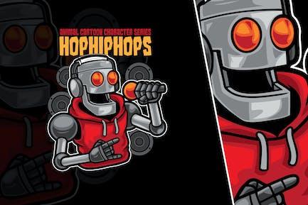 Robot Rap Vector Illustration