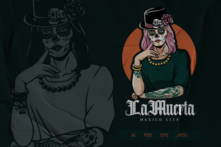 Mexican Girl Logo - Tattoo V2