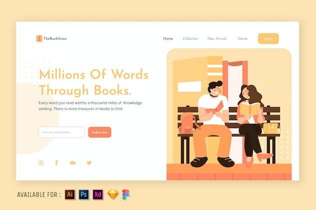 Books Lover - Web Illustration