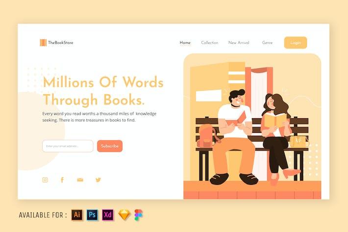 Thumbnail for Books Lover - Web Illustration