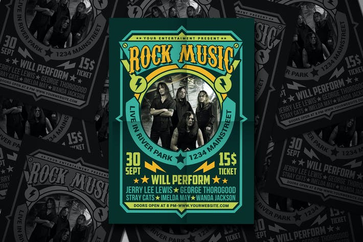 Thumbnail for Rock Music Flyer