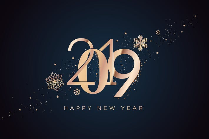 Cover Image For Business Happy New Year 2019 Greeting Card