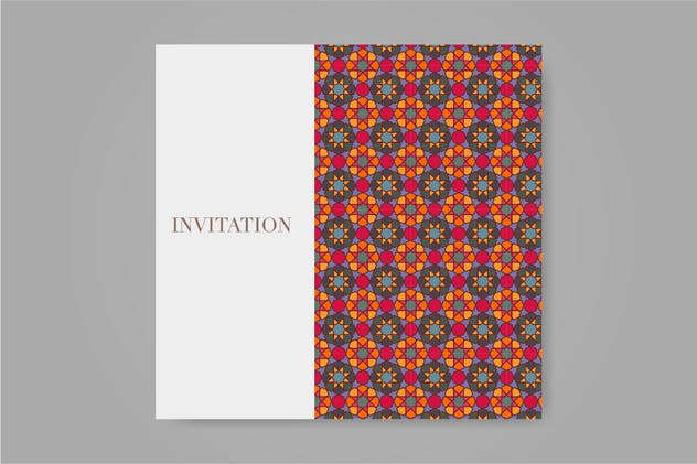 Islamic pattern ornament for wedding or eid card.