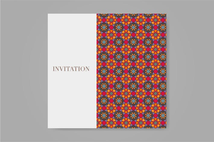 Thumbnail for Islamic pattern ornament for wedding or eid card.