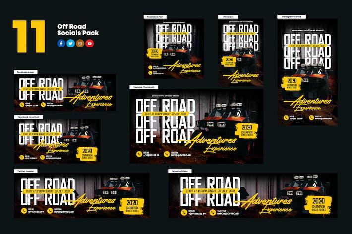 Thumbnail for Off Road Socials Media Pack