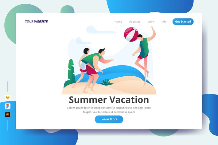 Thumbnail for Summer Vacation - Landing Page