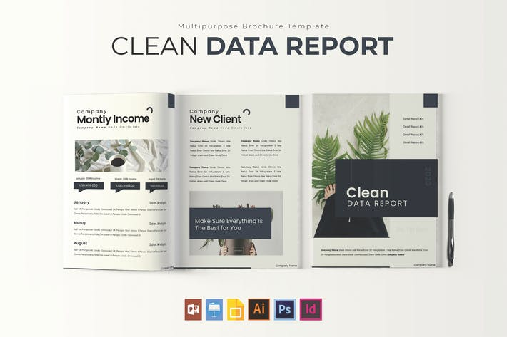 Thumbnail for Clean Data | Report Template