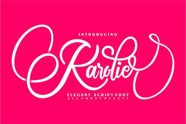 Karolie | Elegant Script Font - product preview 0