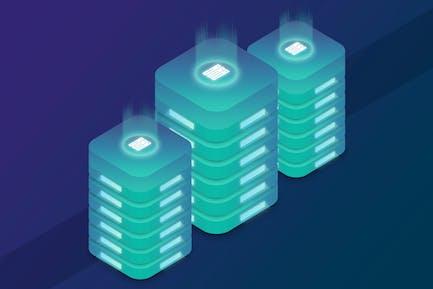 Isometric Web Hosting Server Illustrations 3