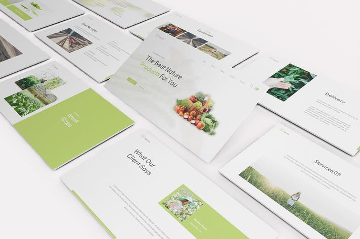 Шаблон слайдов для сельского хозяйства Google