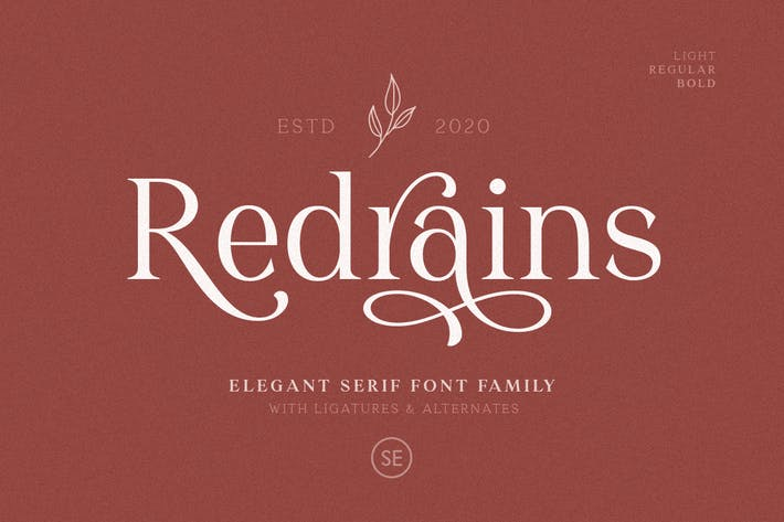 Thumbnail for Redrains - Modern Serif Family