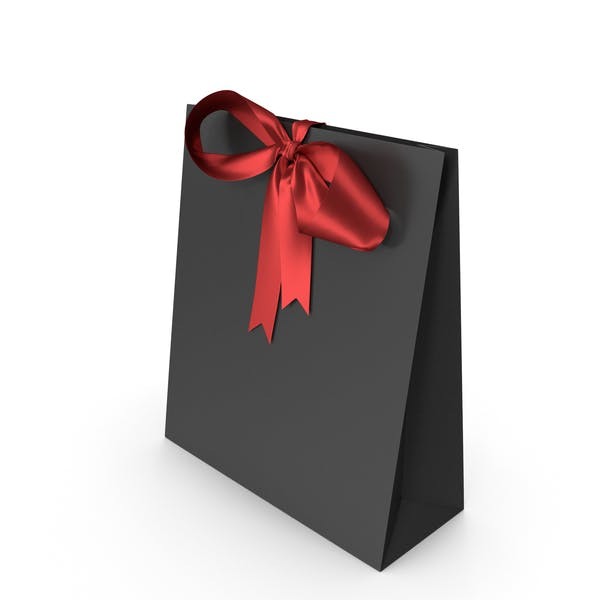 Thumbnail for Black Packaging Paper with Red Ribbon Bow