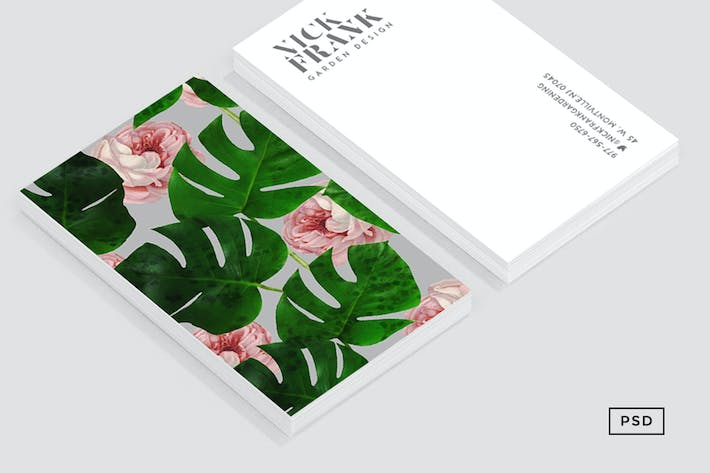 Thumbnail for Monstera Rose Pattern Business Card