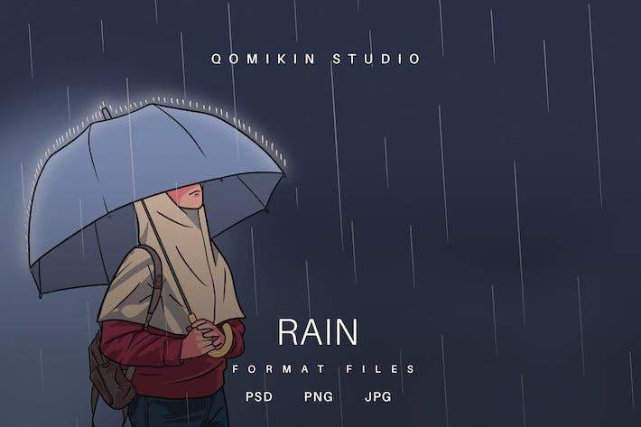 Ilustración de lluvia