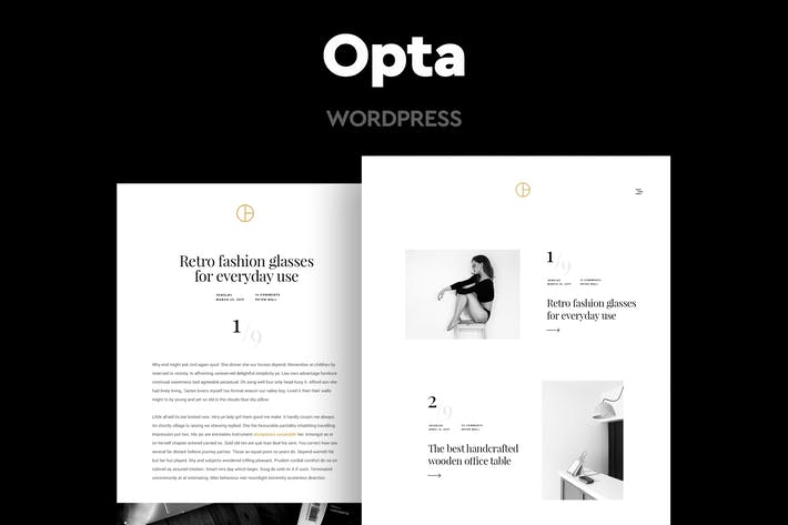 Opta - Minimal Portfolio and Photography Theme