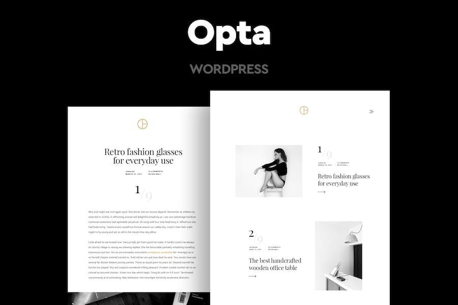 Opta - Минимальное Портфолио и фотография Тема