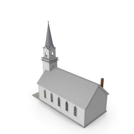 Small White Wooden Church