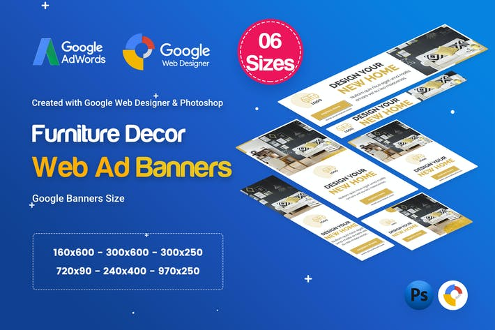 Thumbnail for Furniture Decor Banners Ad - GWD & PSD
