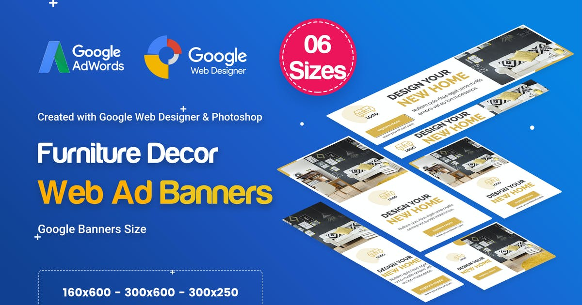 Download Furniture Decor Banners Ad - GWD & PSD by iDoodle