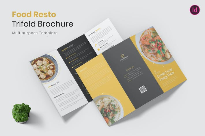 Thumbnail for Food Resto Trifold Brochure