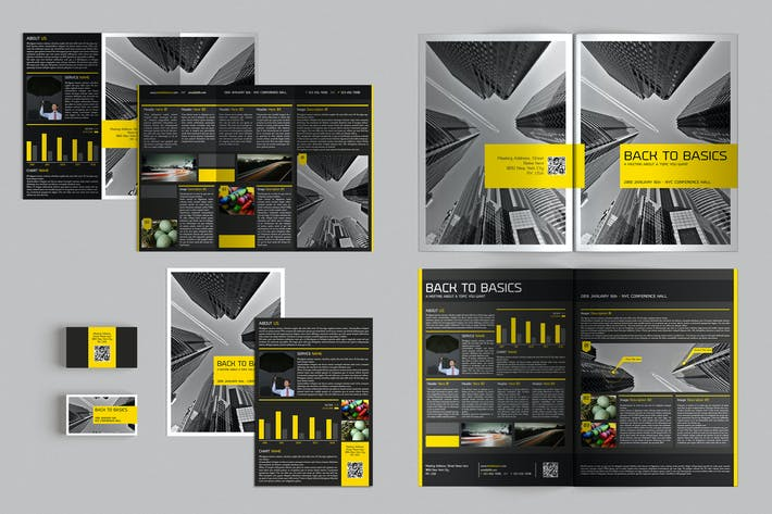 Cover Image For Set of Brochures / Stationery 04