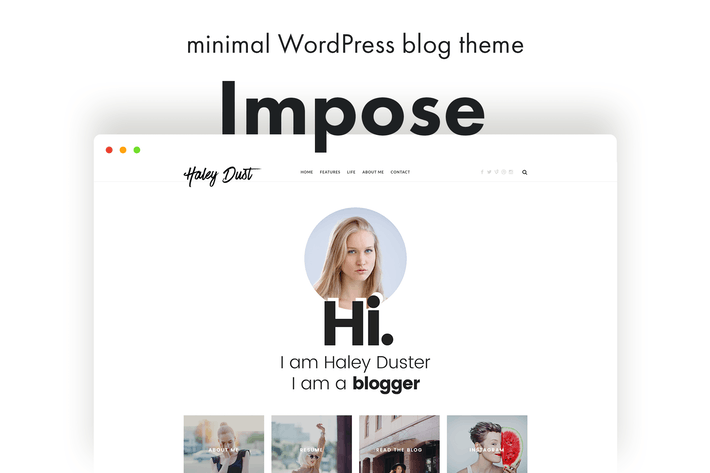 Thumbnail for Impose Blog - A WordPress Blog Theme For Bloggers