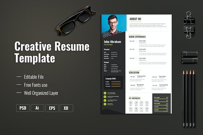 Thumbnail for Creative Resume & CV Template