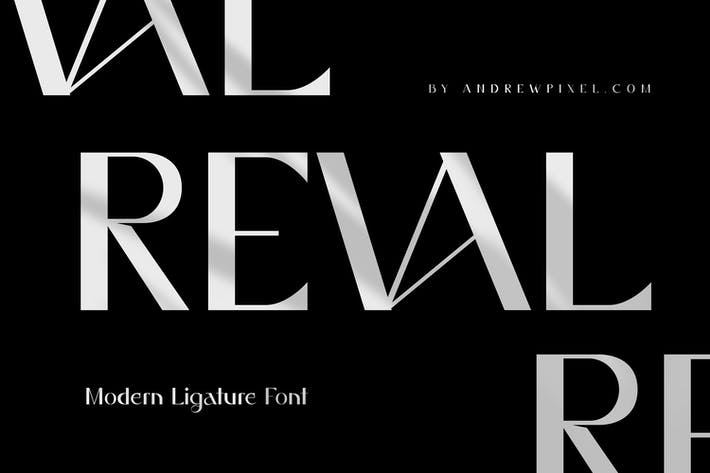 Thumbnail for Reval - Modern Ligature Font