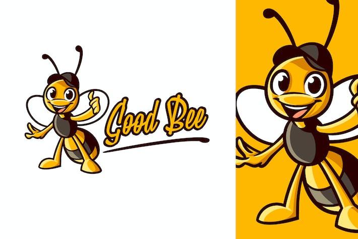 Thumbnail for Cartoon Bee Wearing Hat Character Mascot Logo