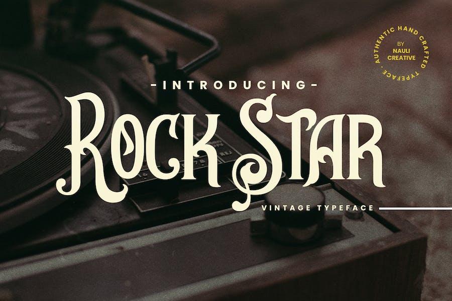 Rockstar - Tipo de letra decorativo vintage