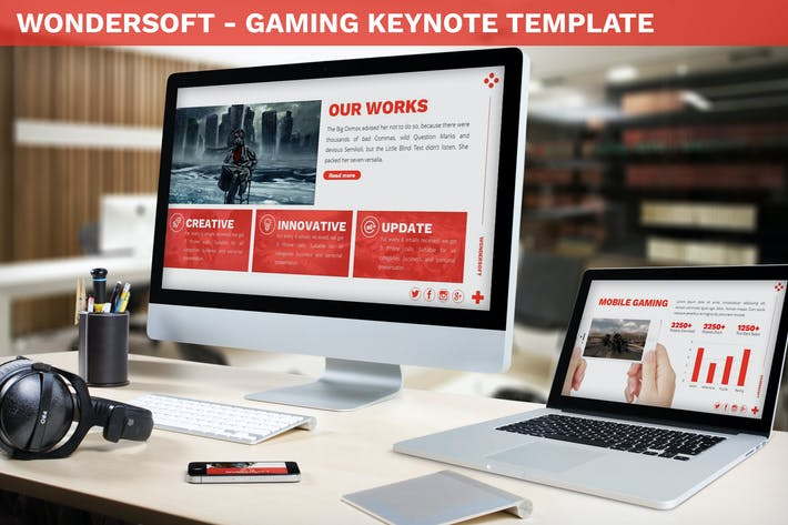 Thumbnail for Wondersoft - Gaming Keynote Template