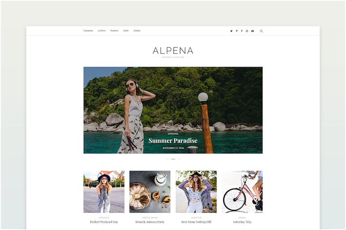 Thumbnail for Alpena - Personal Blog Template