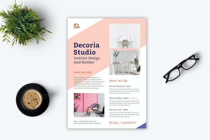 Cover Image For Decoria Interior Flyer