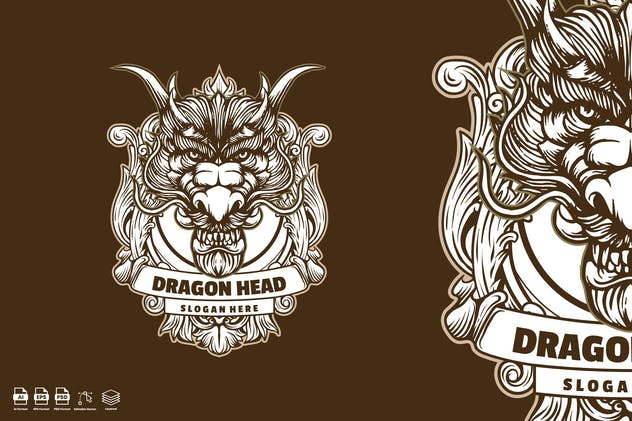 dragon head Vintage
