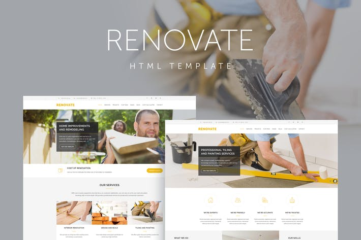 Thumbnail for Renovate - Construction Renovation Template