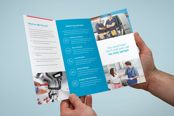 Thumbnail for Brochure – Plumber Tri-Fold