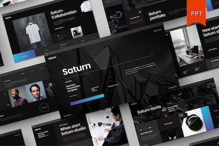Saturn: Plantilla de PowerPoint para empresas