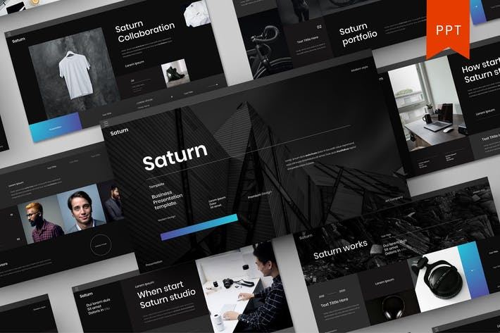Thumbnail for Saturn – Business PowerPoint Template