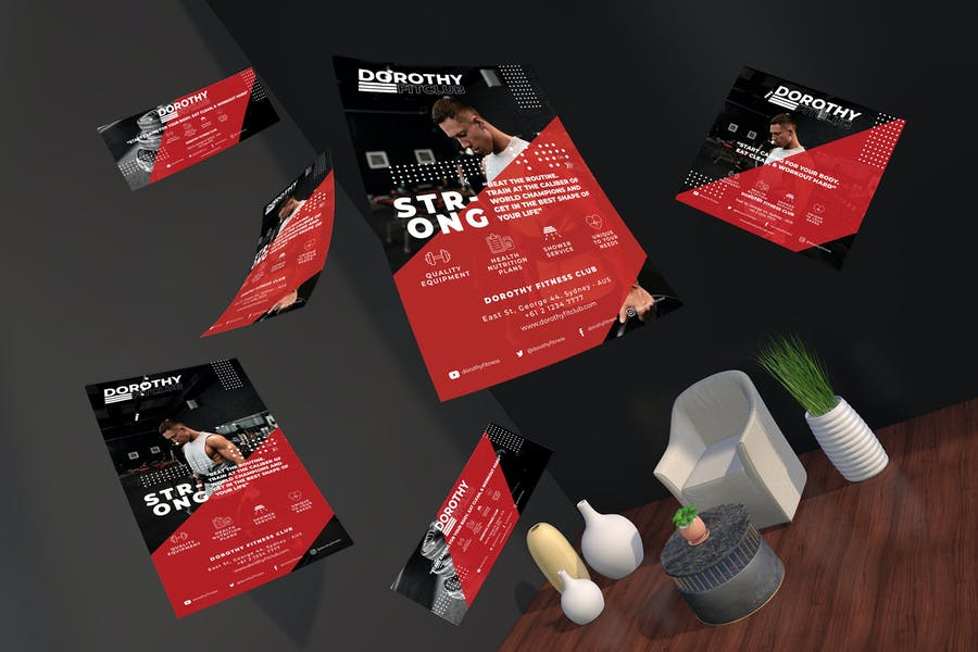 Gym Sports Flyer and Social Media Pack Template