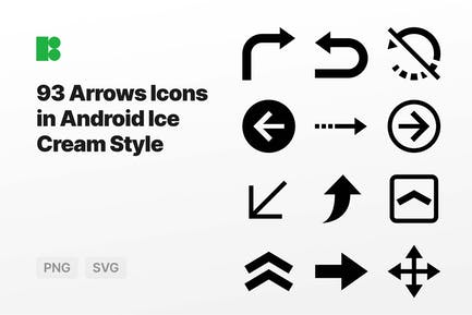 Arrows Icons in Android Ice Cream Style